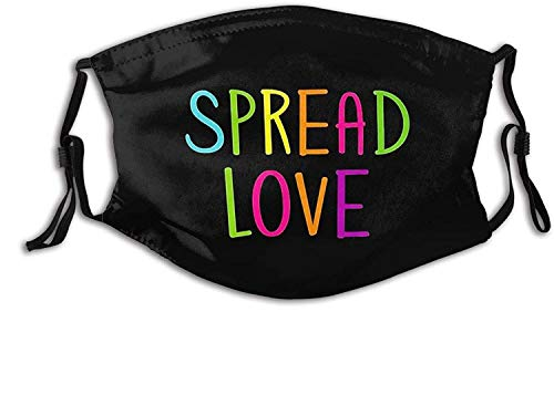 Black Lives Matter BLM BLM-Face Mask with 2 Filters, Reusable&Washable Balaclava, for Men Women Adult&Teens-Spread Love and Peace 4-1 PCS