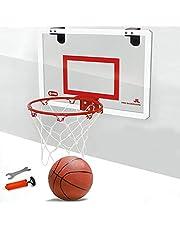 LIJUMN Mini Canasta De Baloncesto De Interio Apto para Puertas De Casa, Oficina O Dormitorio Mejora Interior + Exterior, Aro De Baloncesto De Oficina Small Fun Hoop Classic - Tamaño 46x30cm