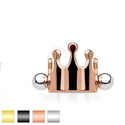 Oro rosa, 16 GA (1,2 mm), 1/4 pulgadas (6 mm), acero quirú