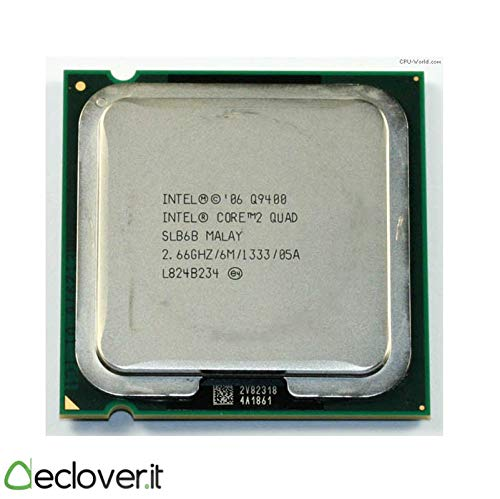Intel SLB6B - Procesador CPU Intel Core 2 Quad (Q9400, 2.66 GHz, memoria caché 6 MB, FSB 1333 MHz, placa base LGA775)