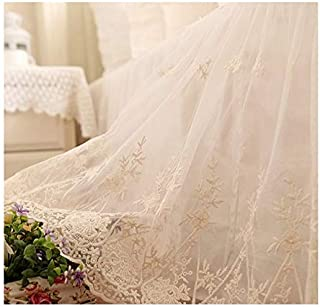 Brandream King Size Luxury White Lace Bed Skirt Romantic Girls Bed Sheets Elegant Teen Skirted Sheet