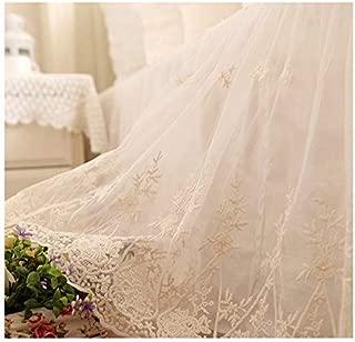Brandream King Size Luxury White Lace Bed Skirt Romantic Girls Bed Sheets Elegant Teen Skirted Sheet