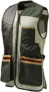 Mens US Two Tone Shooting Vest, Green Olive, XXXL