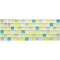 【 Dream Sticker 】 モザイクタイルシール キッチン 洗面所 トイレの模様替えに最適のDIY 壁紙デコレーション ALT (フレッシュグリーン, 1枚)