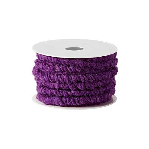 Decpero Wollstränge aus hochwertiger Schafswolle/lila/Ø 10 mm / 10 Meter