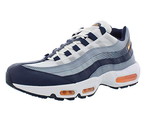 Nike Herren Air Max 95 SE Sneaker, Blau (Midnight Navy/Laser Orange-White 401), 45 EU