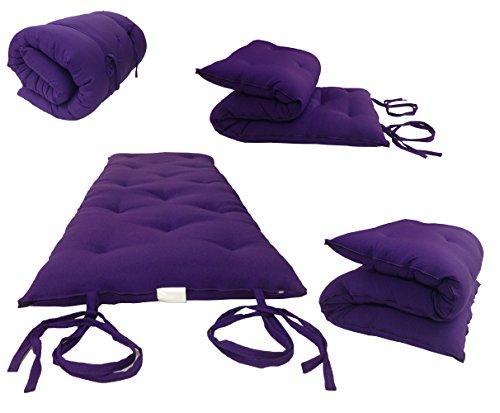 Twin Size Traditional Japanese Floor Futon Mattresses, Tatami Foldable Cushion Mats, Yoga, Meditaion 39' Wide X 80'...