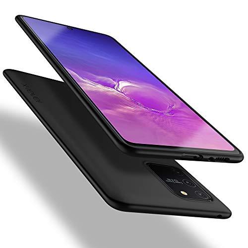 X-level Samsung Galaxy S10 Lite Hülle, [Guardian Serie] Soft Flex TPU Hülle Superdünn Handyhülle Silikon Bumper Cover Schutz Tasche Schale Schutzhülle für Samsung Galaxy S10 Lite - Schwarz
