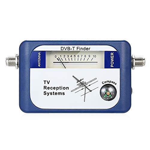 KKmoon 95DTL DVB-T Digital Satellite Signal Finder Meter Antenna TV Terrestre Antenna con Sistemi di Ricezione TV con Compass 170-860 MHz