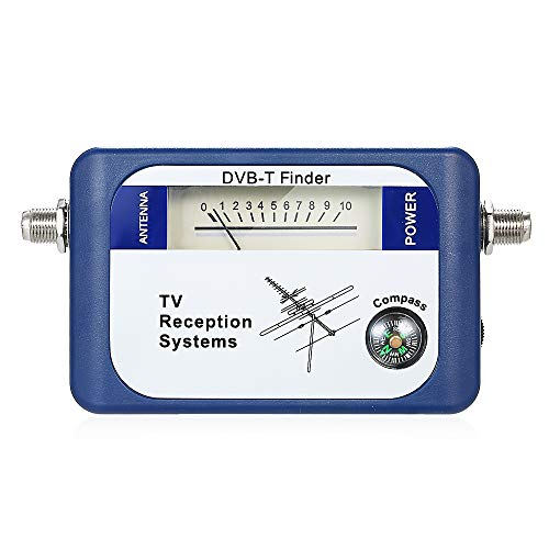 KKmoon 95DTL DVB-T Digital Satellite Signal Finder Meter Antenna TV Terrestre Antenna con Sistemi di Ricezione TV con Compass 170-860 MHz