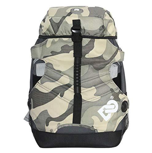 RJHY Rollschuh-Rucksack, wasserdichte Rollschuh-Tasche im Freien Rucksack-Rochen-Rollschuh-Erwachsene Männer und Frauen-Tarnungs-Tasche,Graycamouflage