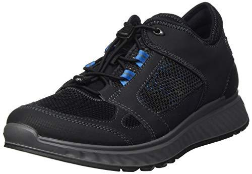 Ecco Herren EXOSTRIDEM Sneaker, Schwarz (Black/Olympian Blue 51773), 42 EU