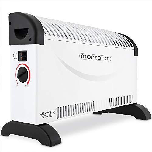 Deuba monzana Konvektor Elektroheizer 2000 W Frostwächter 3 Heizstufen elektrisch Thermostat Elektro Heizer Heizgerät Heizung