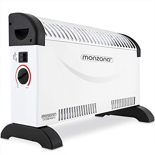 Deuba monzana Konvektor Elektroheizer 2000 W 3 Heizstufen elektrisch Thermostat Elektro Heizer Heizgerät Heizung