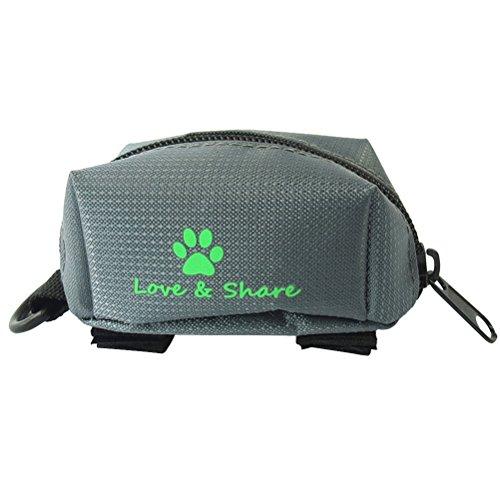 ueetek animale domestico cane Poop tasche titolare guinzaglio di Pet Walking Corsa e Escursioni di (Grigio)