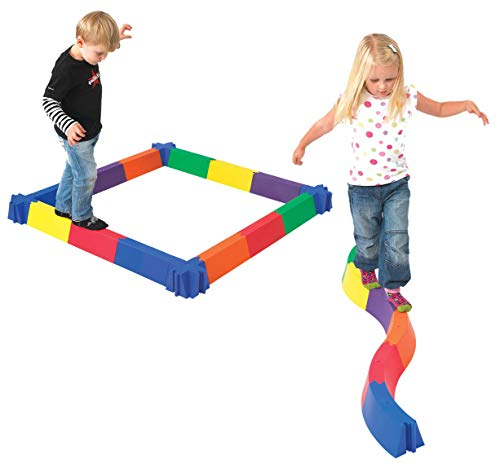 edxeducation-63702 Balancing Path - in Home Learning Supplies for Kids Physical Play - 28 Pieces - Indoor and Outdoor - Exercise and Gross Motor Skills - Build Coordination and Balance