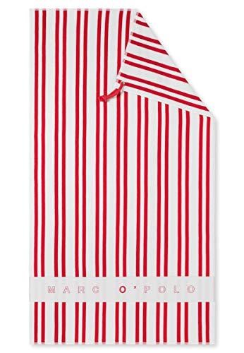 Marc O'Polo Beachtowel Strandtuch Badetuch 100 x 180 cm - 165498, Farbe:Chilli rot, Größe Damen:One Size