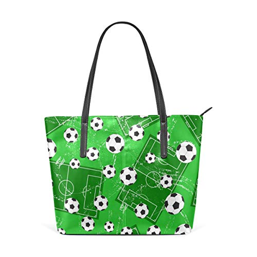 XiangHeFu Bolsos de mujer Fútbol Sports Ground Tote PU Cuero