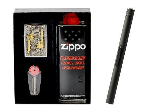 Zippo Mechero de revolver de oro en Set de regalo