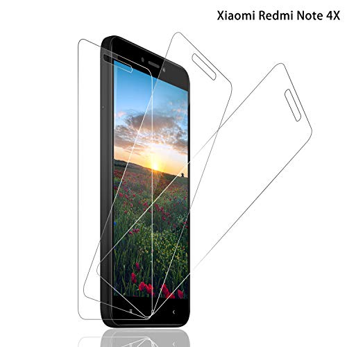 SNUNGPHIR® Cristal Templado Xiaomi Redmi Note 4X [3-Pack] Protector Pantalla Redmi Note 4X Cristal Templado [2.5d Borde Redondo] [9H Dureza] [Alta Definición] [Anti-Arañazos] [Anti-Huella Digital]