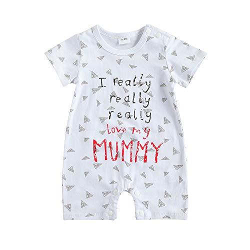 Loalirando Uinisex I Really Love My Mummy/Daddy Body de bebé Pijama entero Día de la Madre / papá I Love My Mummy--a 12-18 meses