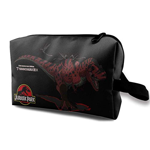 Jurassic Park Anime Travel Cosmetic Bag Makeup Bags for Women Small Makeup Pouch Travel Bags for Toiletries