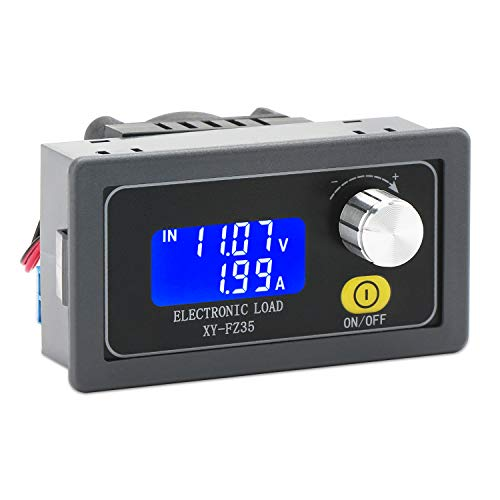 Electronic Load Tester, DROK Battery Load Tester Resistor Module 5A 35W Adjustable LCD DC CC Electronic Capacity Aging Discharge Detector Resistance Board