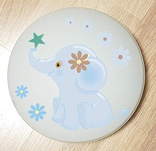Deckenleuchte Wandlampe DSCHUNGEL Tiere Elefant blau 9 auch LED - mit/ohne Name