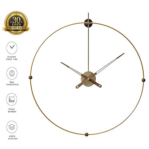 XLBAXLJ Iron Industrial Wind Wall Clock, Hollowed Out Fashion Creative Home Art Light Luxury Wall Clock Mute Living Room Children's Bedroom Study Best Gift
