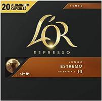 L'OR Espresso Koffiecups Lungo Estremo (200 Lungo Koffie Capsules, Geschikt voor Nespresso* Koffiemachines, Intensiteit...
