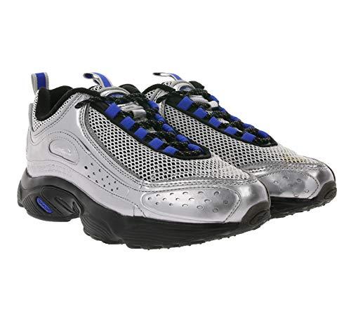 Reebok x BlackEyePatch Daytona DMX II Retro-Schuhe robuste Damen Sneaker Freizeit-Schuhe Turnschuhe Silber/Schwarz, Größe:37 1/2