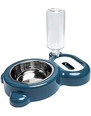NMD&LR Cuenco De Comida para Mascotas, Bebedero Automático para Mascotas De Doble Cuenco Sin Boca Húmeda, Lavabo para Perros Anti-Vuelco, Suministros para Gatos