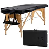 """Massage Table Massage Bed Spa Bed 73"""" Long Portable 2 folding W/Carry Case"""