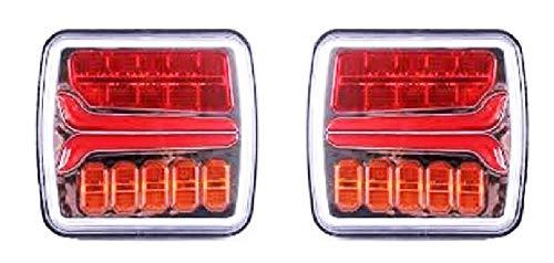 2x 12V 24V LED feu arrière au néon indicateur dynamique pour caravane de remorque de camion