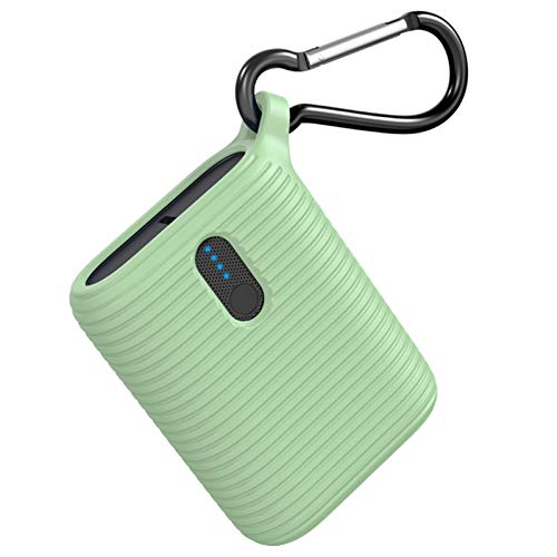OUTXE Mini Powerbank 10000mAh, tragbares Ladegerät superleicht mit Zwei Ausgangsanschlüssen, leichtester ultrakompakter externer USB-C-Akku für iPhone, Samsung und mehr (Neo-Mint)