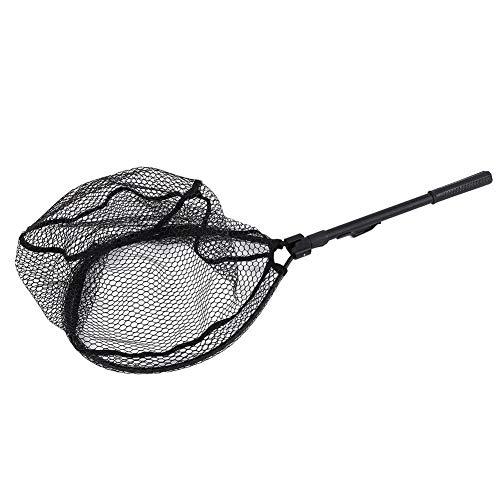fuwinkr Alloy Fliegenfischernetz, Mini Folding Fly Fishing Dip Net, zum Angeln
