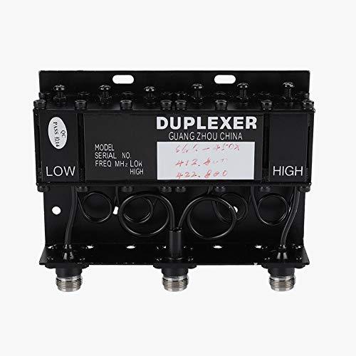 Tosuny Duplexor UHF, 10W SGQ-450X Duplexor UHF de 6 cavidades para repetidor de Radio Diplexor 380-520MHz 10W Manejo de Potencia de RF, Conector N/Q9
