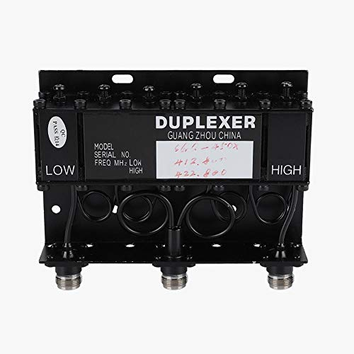 Bewinner UHF Duplexer, Dxlexeur Duplexer Power Duplexer SGQ-450X Abs 6 Cavidades / 10W para Repetidor de Radio - Mejora Comunicación Inalámbrica de Señal en Grandes Áreas