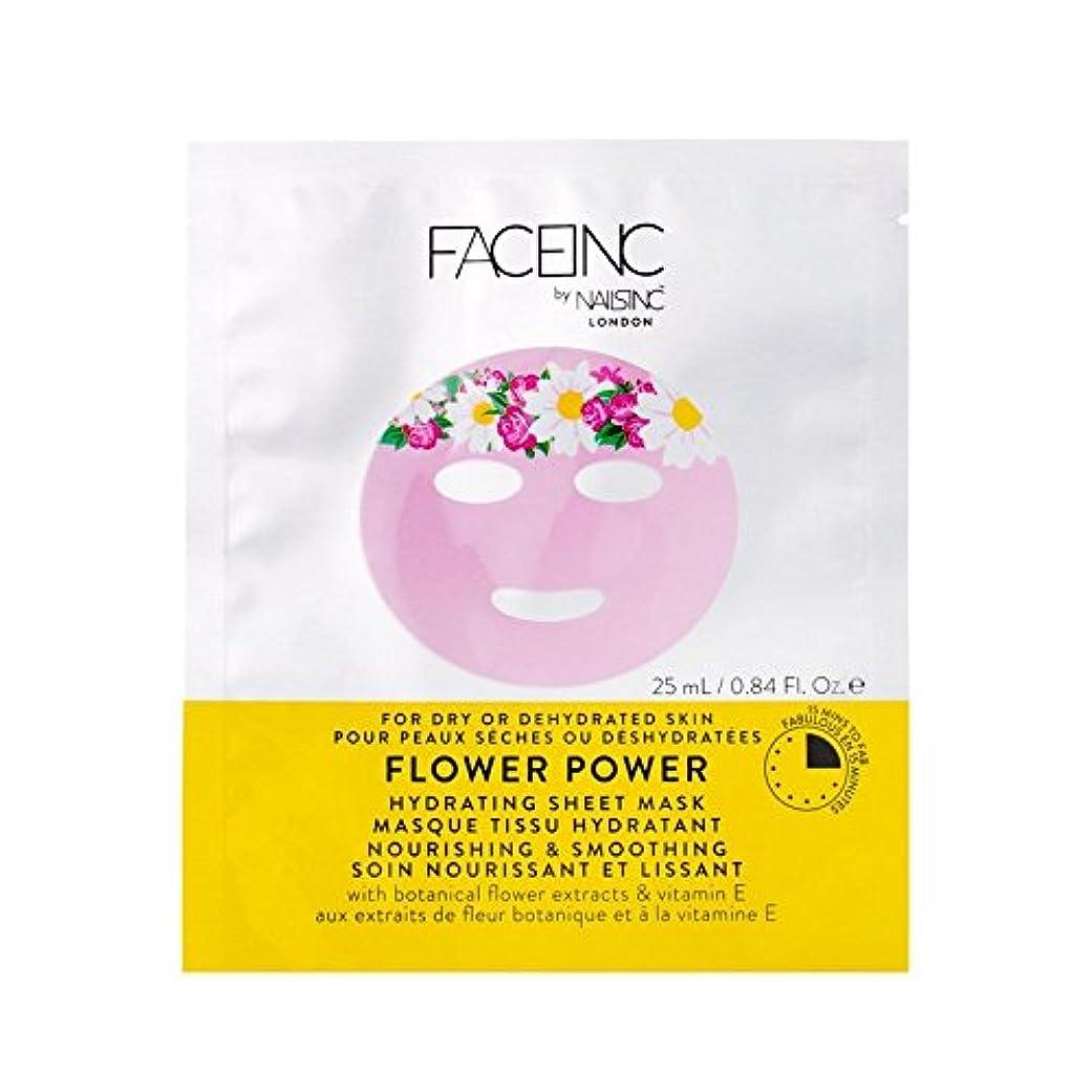ジャンプ粗いシール爪が株式会社顔株式会社花のパワーマスク x4 - Nails Inc. Face Inc Flower Power Mask (Pack of 4) [並行輸入品]