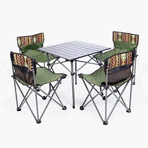 LJLis Klapptisch Stuhl Gesetzt Picknick Im Freien Grilltisch Und Stuhl Fünfteilige Tragbare Propaganda-Tisch-Stuhl-Kombination