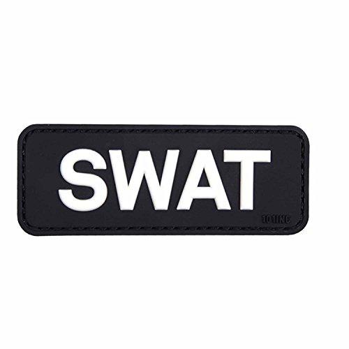 101 INC. Emblem Patch 3D SWAT aus PVC Klett Abzeichen 3 x 8 cm Inklusive Gegenstück