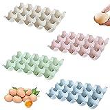 4 Piezas Envase Huevos, Cartón Huevos Plástico, Caja Almacenamiento Huevos,...