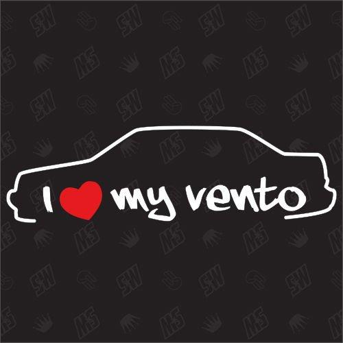 speedwerk-motorwear I Love My Vento - Sticker für VW - Bj. 1992-1998