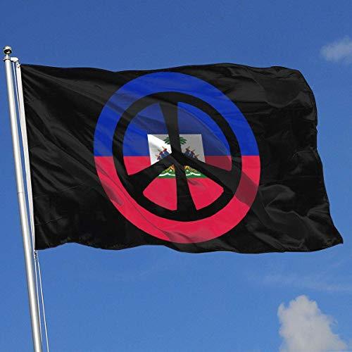 Zudrold Banderas al Aire Libre Signo de la Paz Fondo de la Bandera de Haití Bandera para fanáticos de los Deportes Fútbol Baloncesto Béisbol Hockey