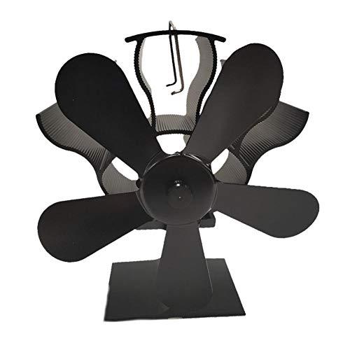 duhe189014 Heizlüfter Umweltfreundlich Geräuschloser Wärmekraft-Kaminlüfter Hochtemperatur-Heizkühler Fünfflügeliger Kaminlüfter