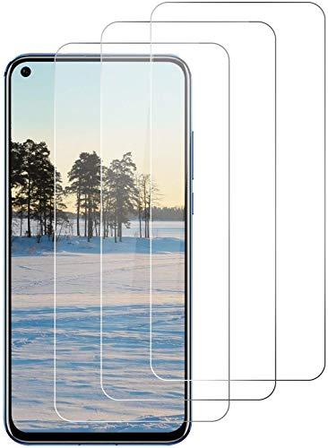 DOSNTO 3-Unidades Protector de Pantalla para Huawei Honor View 20, Cristal Vidrio Templado Premium Honor View 20 [Alta Definicion][Sin Burbujas] [Dureza 9H] [Anti-Arañazos][Kit Fácil de Instalar]