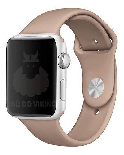 Pulseira Silicone Sport Esportiva, compatível com Apple Watch (Nozes, 38mm Pequeno)