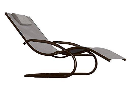Vivere WAVEL1-CO Wave Chaise Longue Aluminium Cacao 157 x 61 x 91 cm