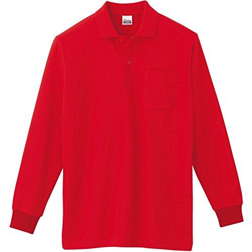 トムス(TOMS) 00169-VLP T/C長袖ポロシャツ(ポケット付) (5L, 010:レッド)