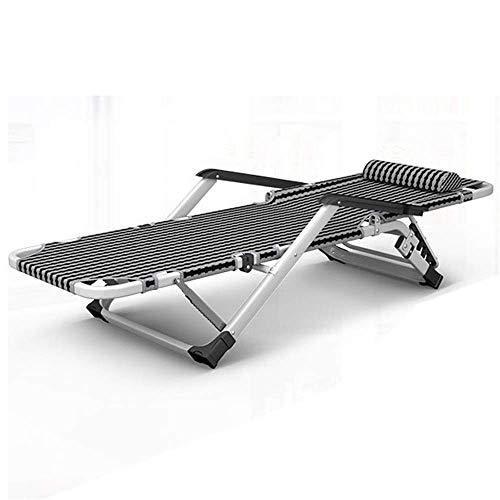 ZGQA-GQA Folding Bed Folding Away Adjustable Backrest Guest Single Beds Mattresses Foldable Lounge Chair Black Visitor Bed (Color : Black, Size : 180 * 65 * 38cm)
